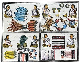 Códice Florentino, lib, IX, sumario. El comercio. www.arqueomex.com:S2N3nPochtecas122